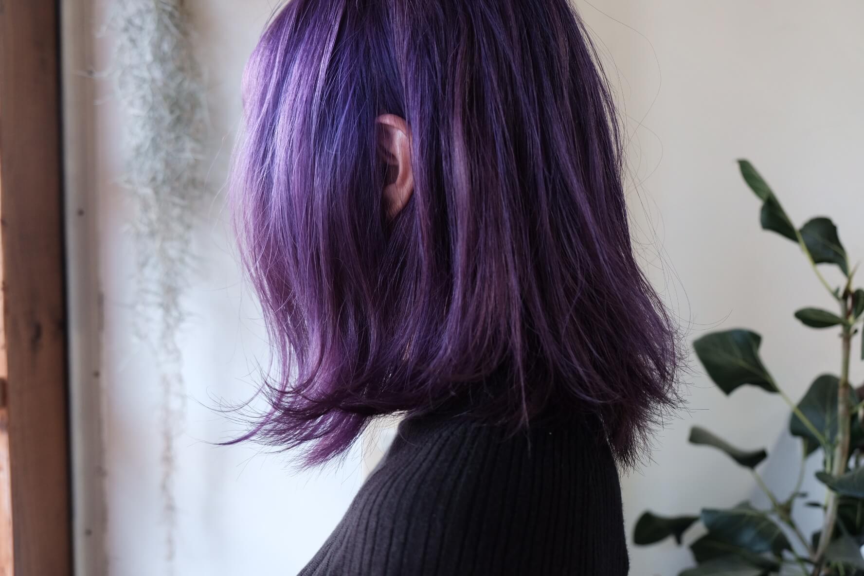 派手髪紫ヘア